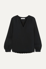 Chloé Scalloped cady blouse