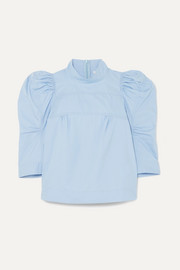 Chloé Cotton-poplin turtleneck top