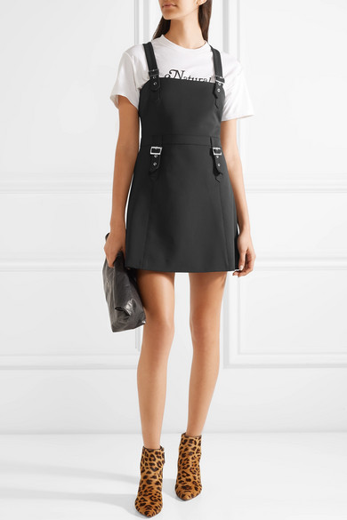 William Buckled Stretch Cady Mini Dress by Opening Ceremony