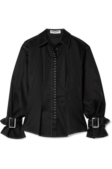 OPENING CEREMONY BUCKLED COTTON-BLEND SHIRT