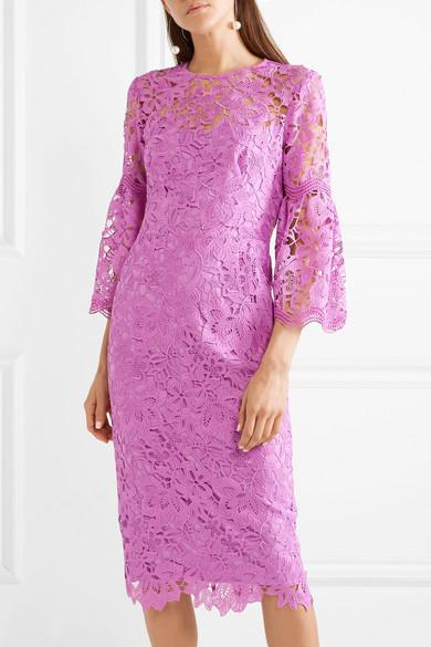 Lela Rose Guipure Lace Dress Net A