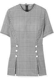Lela Rose Checked wool top