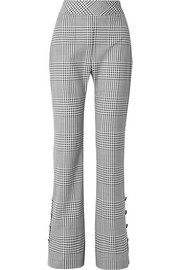 Lela Rose Checked wool wide-leg pants