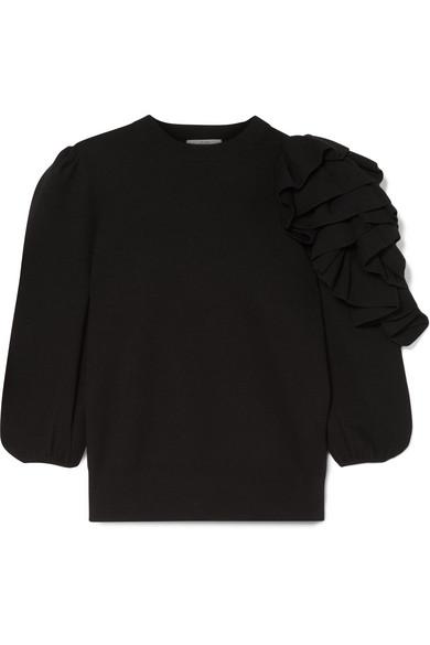 Co Ruffled One Sleeve Sweater
