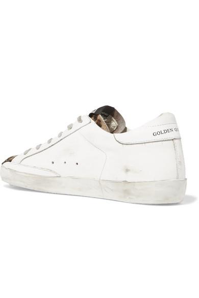 Golden Goose Deluxe Brand | mir Superstar Sneakers aus Kalbshaar mir | Leopardenprint, Distressed-Leder und Veloursleder 59cb90