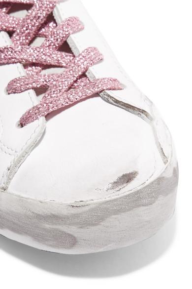 Golden Goose Sneakers Superstar distressed leather sneakers