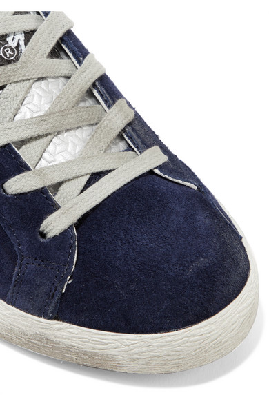 Golden Goose und Deluxe Brand   Superstar Sneakers aus Leder und Goose Veloursleder in Distressed-Optik 507c91