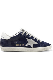 Superstar Sneakers aus Leder und Veloursleder in Distressed-Optik