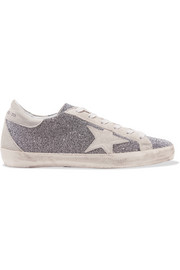 Golden Goose Deluxe Brand Superstar Swarovski crystal-embellished distressed suede sneakers
