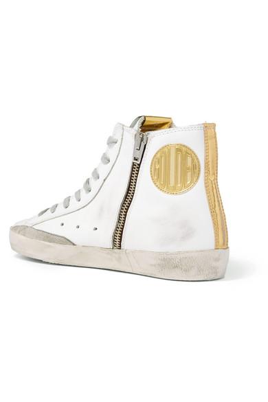 Golden Goose Deluxe Brand | und Francy High-Top-Sneakers aus Leder und | Veloursleder mit Distressed-Details 91d8c1