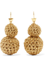 Lucy Folk Rock Formation gold-plated and Lurex earrings