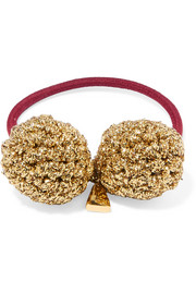 Rock Formation gold-plated and Lurex hair tie
