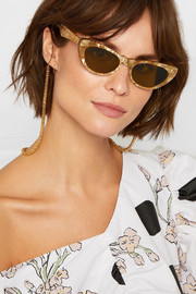 Slice of Heaven cat-eye acetate sunglasses