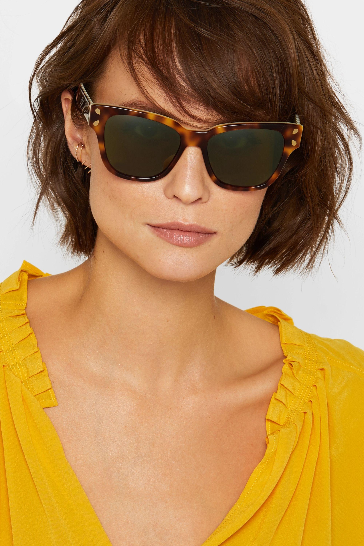 Lucy Folk Diving For Gold cat-eye tortoiseshell acetate sunglasses