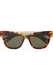 Diving For Gold cat-eye tortoiseshell acetate sunglasses