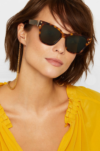 Diving For Gold Cat-eye Tortoiseshell Acetate Sunglasses - one size Lucy Folk