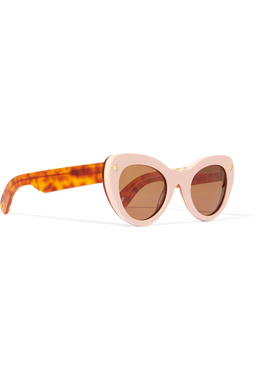 Lucy Folk Wingspan two-tone cat-eye acetate sunglasses