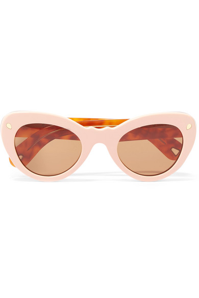 Wingspan Two Tone Cat Eye Acetate Sunglasses by Lucy Folk