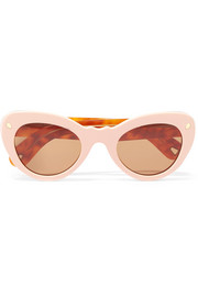 Wingspan two-tone cat-eye acetate sunglasses