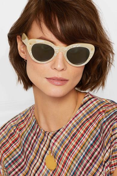 c962323247 Lucy Folk. Wingspan cat-eye acetate sunglasses. £275. Zoom In