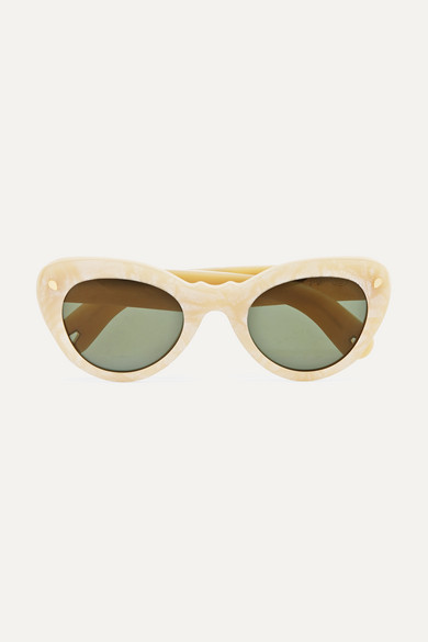 Wingspan Cat Eye Acetate Sunglasses by Lucy Folk