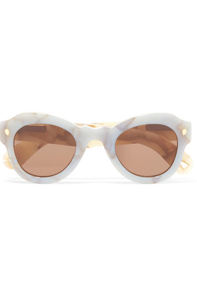 LUCY FOLK Fly Away round-frame acetate sunglasses