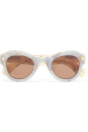 Fly Away round-frame acetate sunglasses