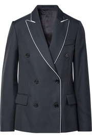 Misam double-breasted twill blazer