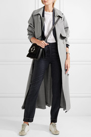 Vela wool-drill trench coat