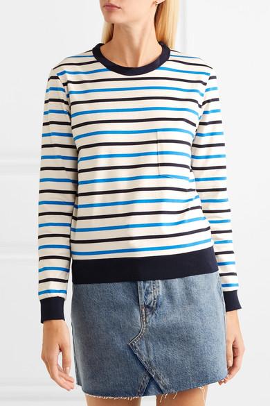 Golden Goose Tops Merak striped cotton-jersey top