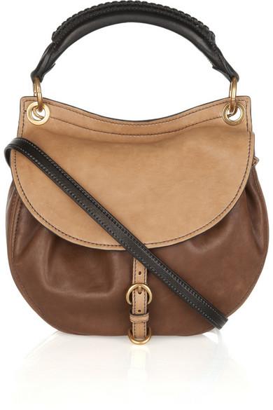 Miu Small Leather Hobo Bag