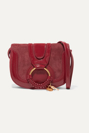 See By Chloé Hana small patent-leather and suede shoulder bag