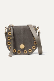 See By Chloé Kriss mini eyelet-embellished textured-leather and suede shoulder bag