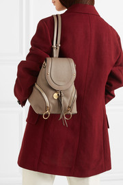 Olga small textured-leather backpack
