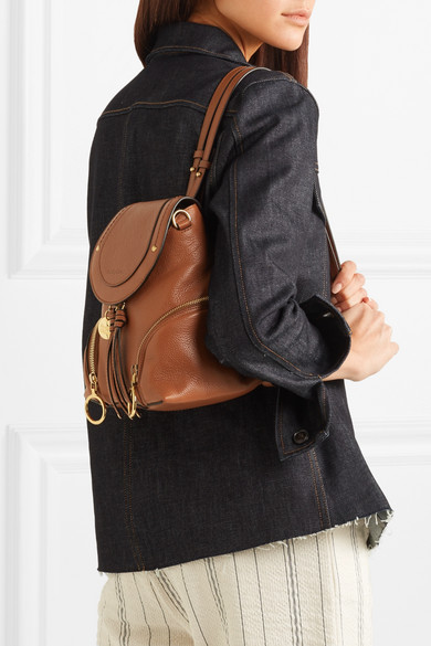 62b427ea See By Chloé | Olga small textured-leather backpack | NET-A-PORTER.COM