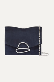 Proenza Schouler Curl small embellished suede shoulder bag
