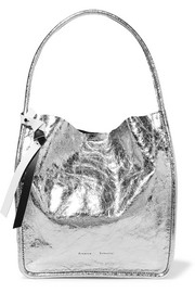 Proenza Schouler Metallic crinkled-leather tote