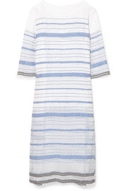 LemLem Tiki embroidered cotton-blend gauze midi dress