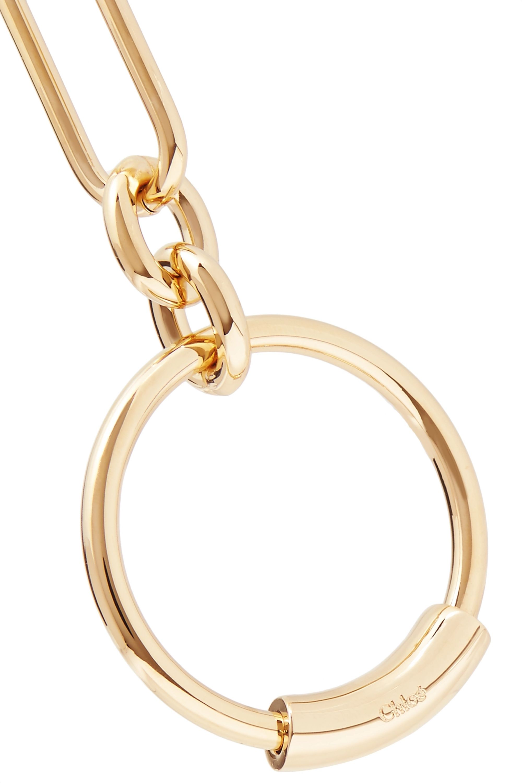Chloé Reese gold-tone hoop earrings