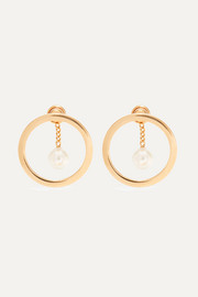 Chloé Gold-tone faux pearl earrings