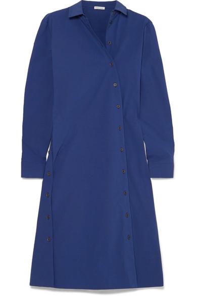 COTTON-BLEND POPLIN DRESS