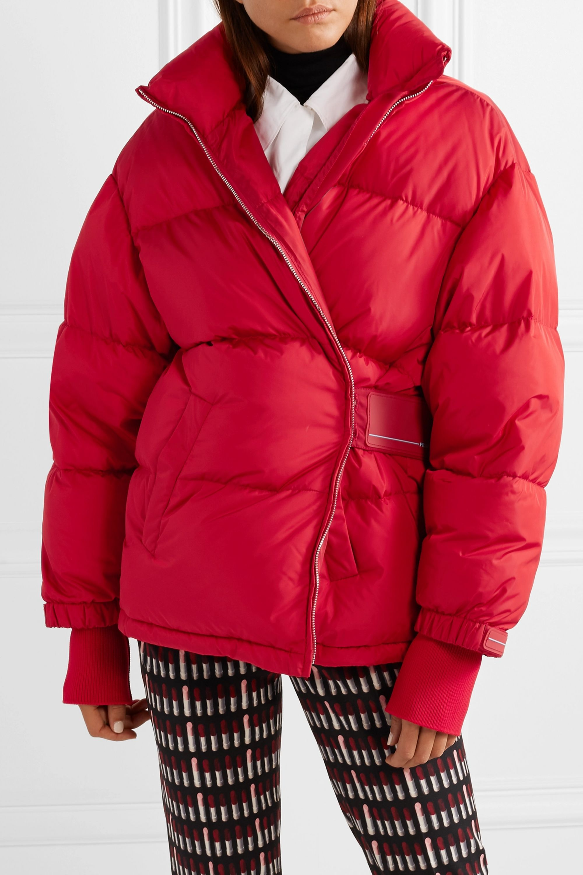 Prada Cropped quilted shell down jacket