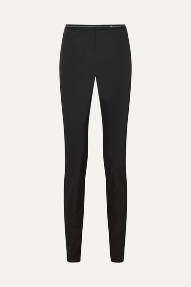 Logo-Waistband Rib-Knit Leggings - Black Size 36 It