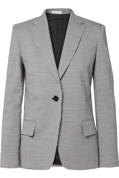 TOMAS MAIER Pepita Houndstooth Wool And Cotton-Blend Blazer in Gray