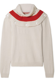 Tomas Maier Convertible striped cashmere sweater