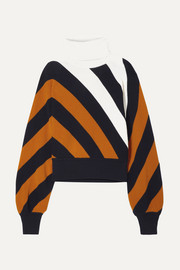 Monse Striped wool turtleneck sweater