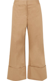Monse Cropped cotton-blend gabardine wide-leg pants