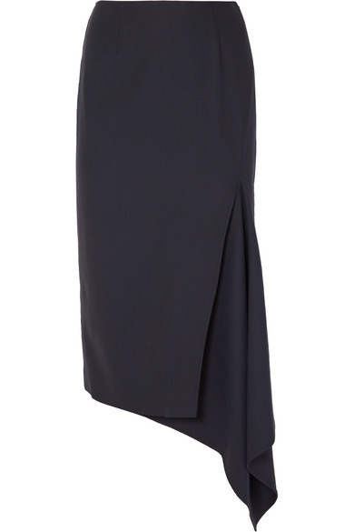 Asymmetric Wool Blend Gabardine Skirt by Monse