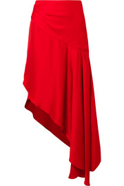 Monse Asymmetric satin midi skirt