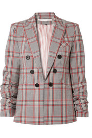 Veronica Beard Caldwell Dickey checked cotton-blend blazer